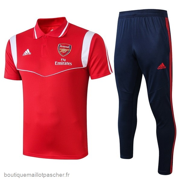 Promo Ensemble Complet Polo Arsenal 2019 2020 Rouge Blanc