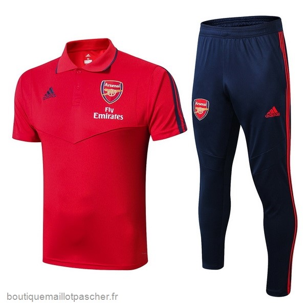 Promo Ensemble Complet Polo Arsenal 2019 2020 Rouge Bleu