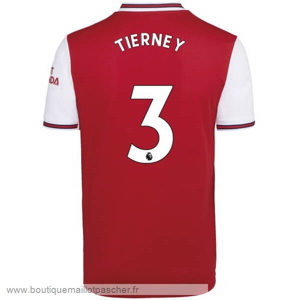 Promo NO.3 Tierney Domicile Maillot Arsenal 2019 2020 Rouge