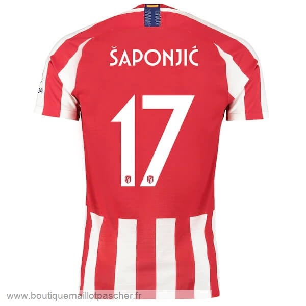 Promo NO.17 Saponjic Domicile Maillot Atlético Madrid 2019 2020 Rouge