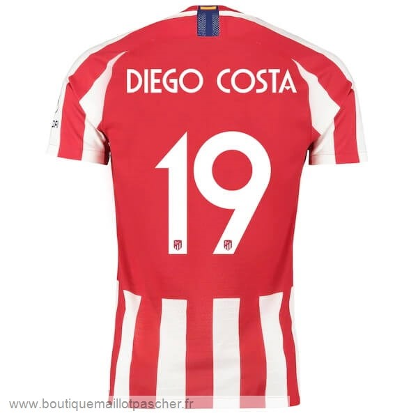 Promo NO.19 Diego Domicile Costa Maillot Atlético Madrid 2019 2020 Rouge