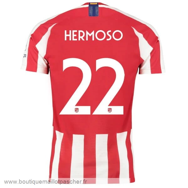 Promo NO.22 Hermoso Domicile Maillot Atlético Madrid 2019 2020 Rouge
