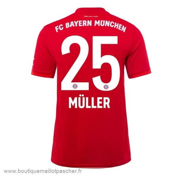 Promo NO.25 Muller Domicile Maillot Bayern Munich 2019 2020 Rouge