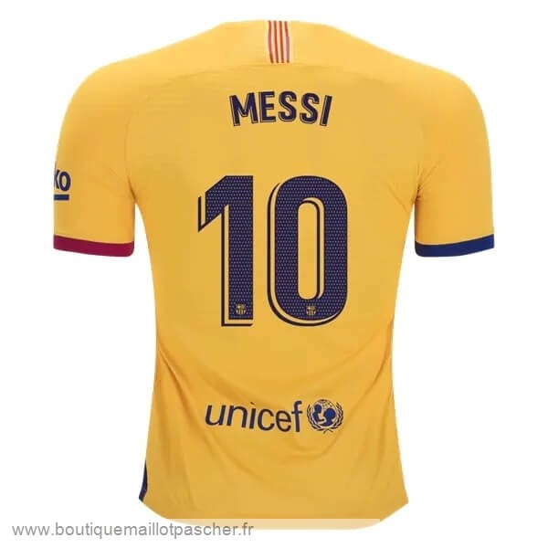 Promo NO.10 Messi Exterieur Maillot Barcelone 2019 2020 Jaune