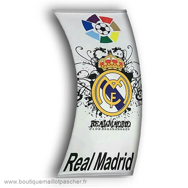 Promo Football Drapeau de Real Madrid Blanc