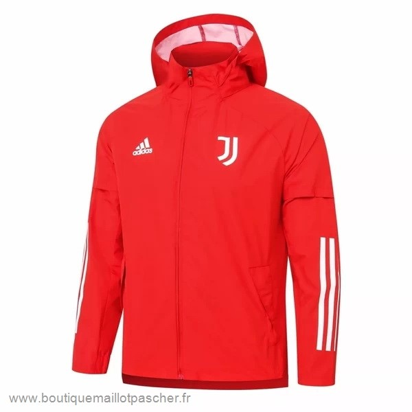 Promo Coupe Vent Juventus 2020 2021 Rouge Blanc
