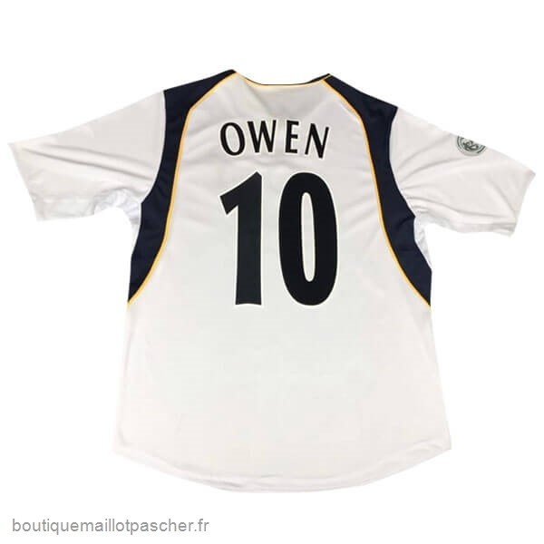 Promo NO.10 Owen European Super Cup Domicile Maillot Liverpool Retro 2005 Blanc