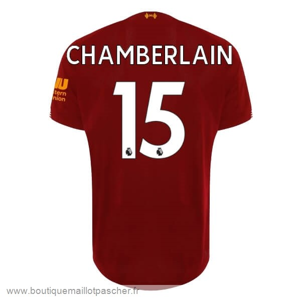Promo NO.15 Chamberlain Domicile Maillot Liverpool 2019 2020 Rouge