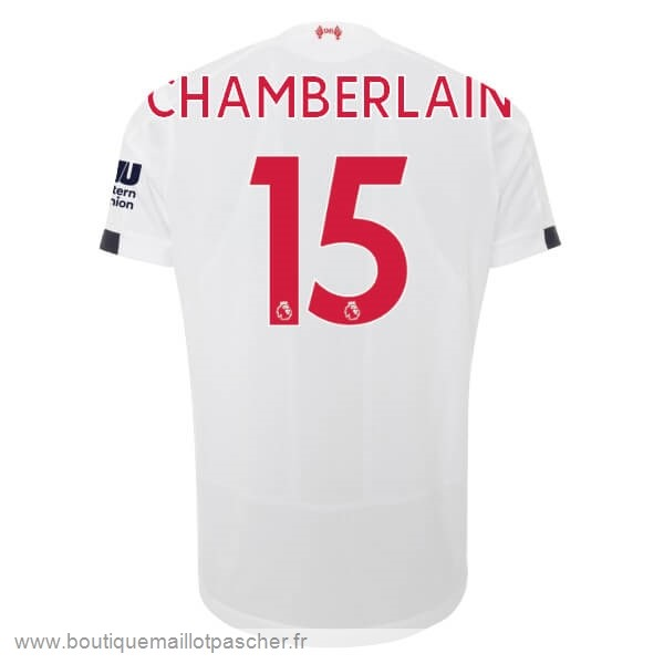 Promo NO.15 Chamberlain Exterieur Maillot Liverpool 2019 2020 Blanc