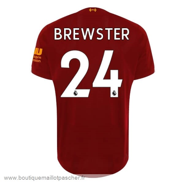 Promo NO.24 Brewster Domicile Maillot Liverpool 2019 2020 Rouge