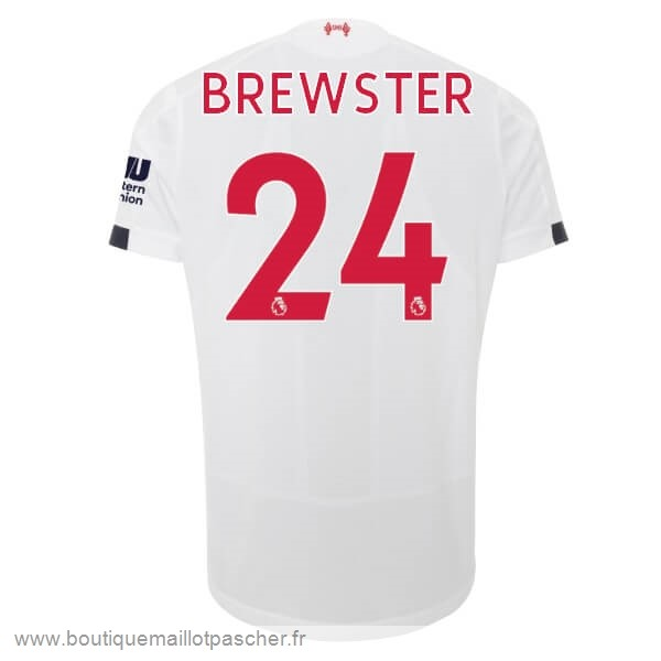 Promo NO.24 Brewster Exterieur Maillot Liverpool 2019 2020 Blanc
