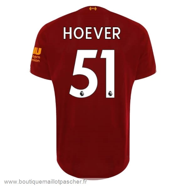 Promo NO.51 Hoever Domicile Maillot Liverpool 2019 2020 Rouge