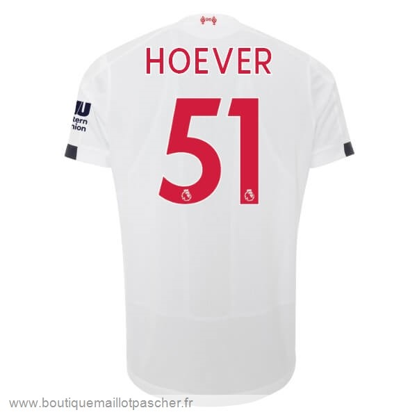 Promo NO.51 Hoever Exterieur Maillot Liverpool 2019 2020 Blanc