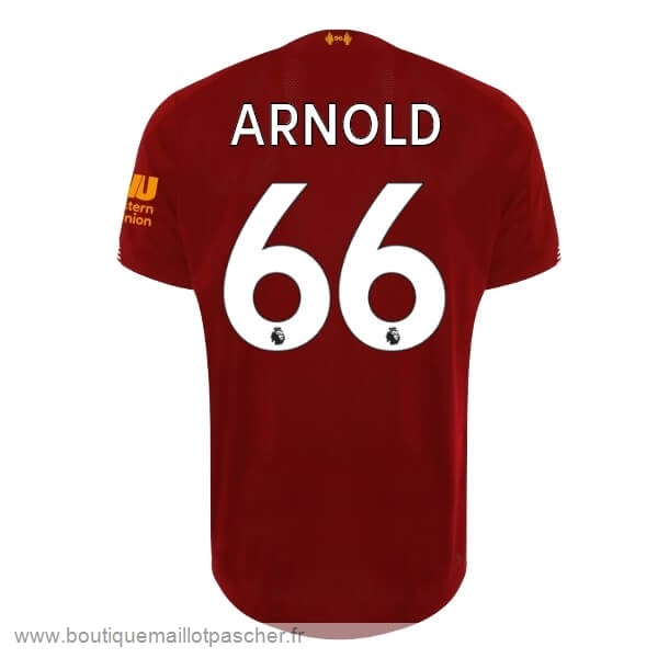 Promo NO.66 Arnold Domicile Maillot Liverpool 2019 2020 Rouge