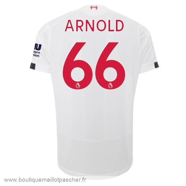 Promo NO.66 Arnold Exterieur Maillot Liverpool 2019 2020 Blanc