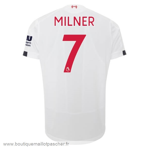 Promo NO.7 Milner Exterieur Maillot Liverpool 2019 2020 Blanc