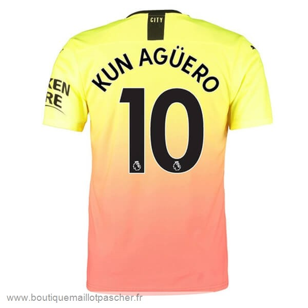 Promo NO.10 Kun Aguero Third Maillot Manchester City 2019 2020 Orange