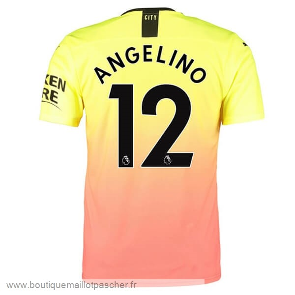 Promo NO.12 Angelino Third Maillot Manchester City 2019 2020 Orange