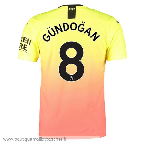 Promo NO.8 Gundogan Third Maillot Manchester City 2019 2020 Orange