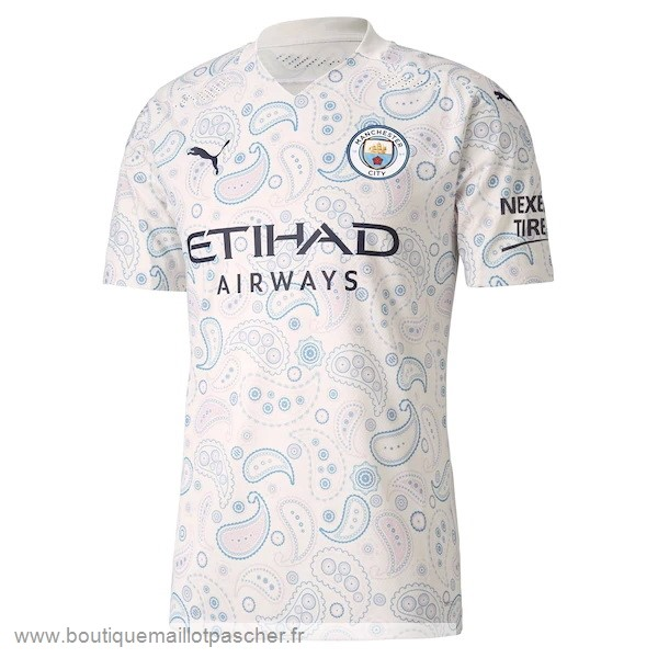 Promo Thailande Third Maillot Manchester City 2020 2021 Blanc