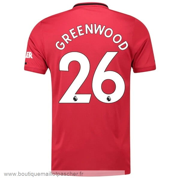 Promo NO.26 Greenwood Domicile Maillot Manchester United 2019 2020 Rouge