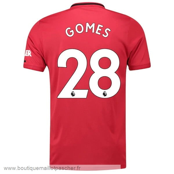 Promo NO.28 Gomes Domicile Maillot Manchester United 2019 2020 Rouge