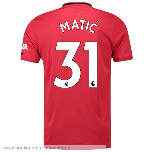 Promo NO.31 Matic Domicile Maillot Manchester United 2019 2020 Rouge