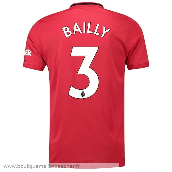 Promo NO.3 Bailly Domicile Maillot Manchester United 2019 2020 Rouge