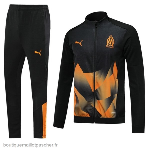 Promo Survêtements Marseille 2019 2020 Noir Orange