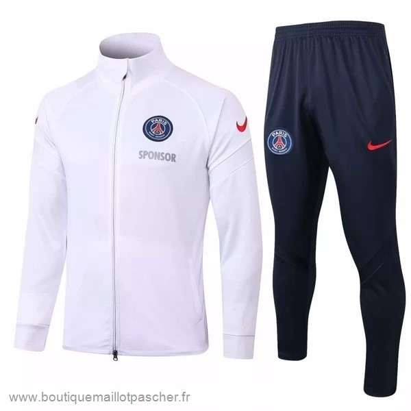 Promo Survêtements Paris Saint Germain 2020 2021 Blanc Noir