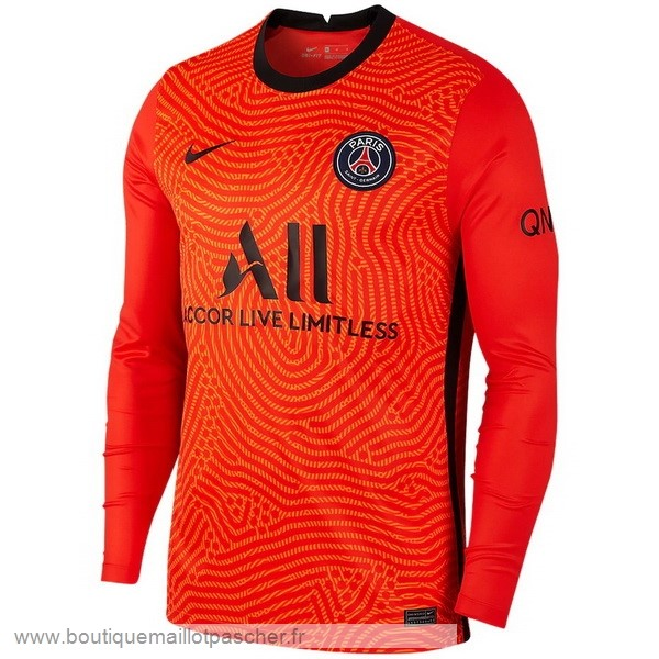 Promo Manches Longues Gardien Paris Saint Germain 2020 2021 Orange