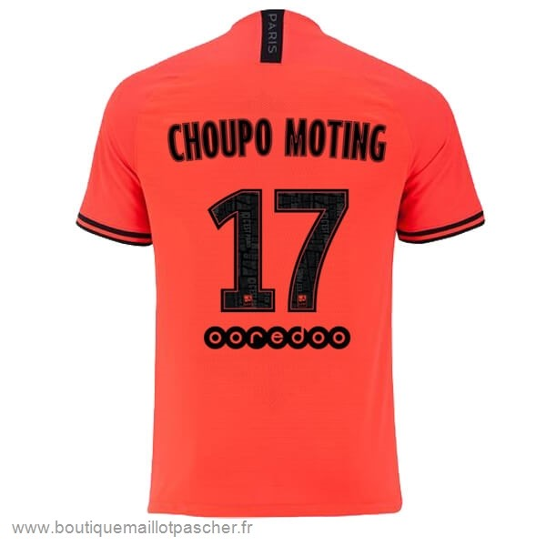 Promo NO.17 Choupo Moting Exterieur Maillot Paris Saint Germain 2019 2020 Orange