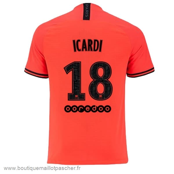Promo NO.18 Icardi Exterieur Maillot Paris Saint Germain 2019 2020 Orange