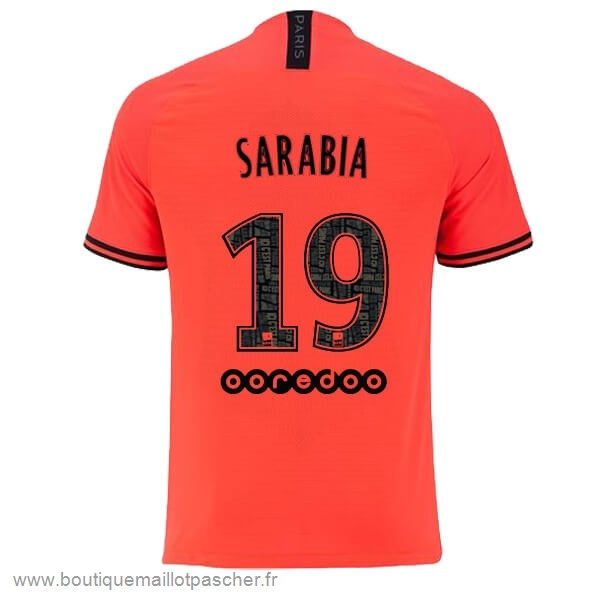 Promo NO.19 Sarabia Exterieur Maillot Paris Saint Germain 2019 2020 Orange