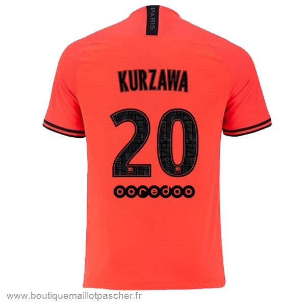 Promo NO.20 Kurzawa Exterieur Maillot Paris Saint Germain 2019 2020 Orange