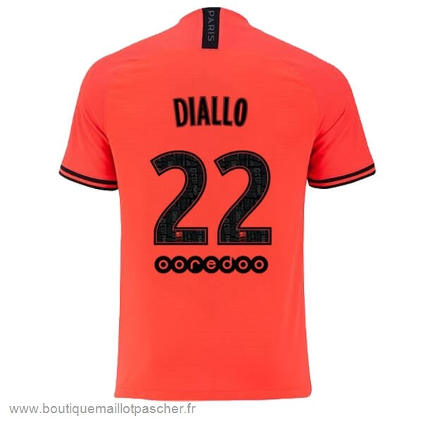 Promo NO.22 Diallo Exterieur Maillot Paris Saint Germain 2019 2020 Orange