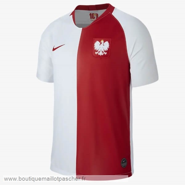 Promo Maillot Polonia 100th Blanc Rouge