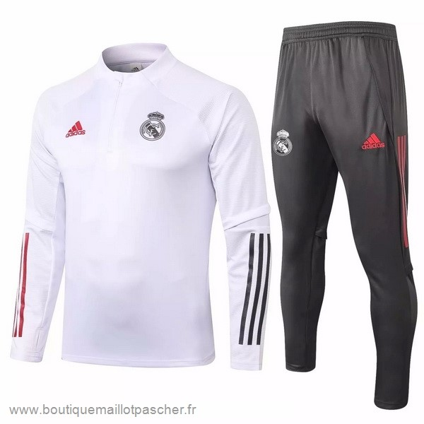 Promo Survêtements Real Madrid 2020 2021 Blanc Gris