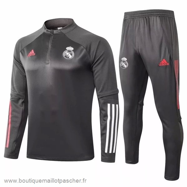 Promo Survêtements Real Madrid 2020 2021 Gris Blanc