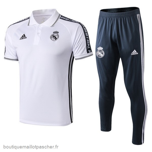 Promo Ensemble Complet Polo Real Madrid 2019 2020 Blanc