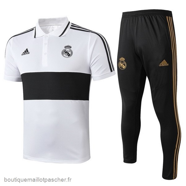 Promo Ensemble Complet Polo Real Madrid 2019 2020 Blanc Noir