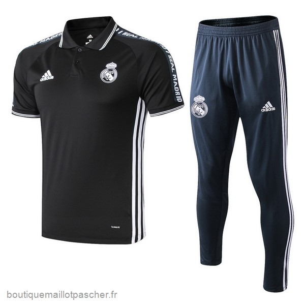Promo Ensemble Complet Polo Real Madrid 2019 2020 Noir