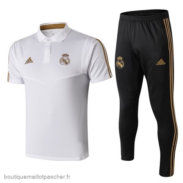 Promo Ensemble Complet Polo Real Madrid 2019 2020 Noir Blanc