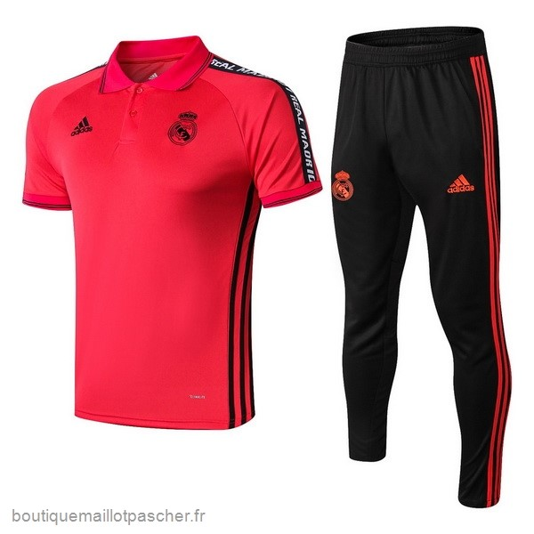 Promo Ensemble Complet Polo Real Madrid 2019 2020 Rouge Noir