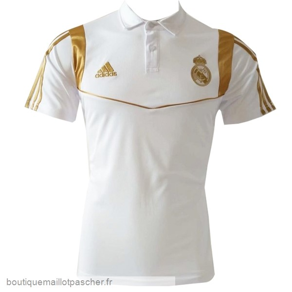 Promo Polo Real Madrid 2019 2020 Blanc Or