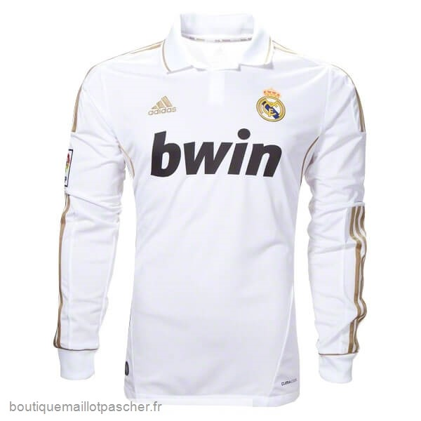 Promo Domicile Manches Longues Real Madrid Retro 11 12 Blanc