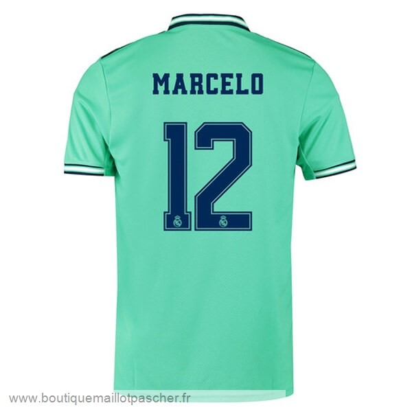 Promo NO.12 Marcelo Third Maillot Real Madrid 2019 2020 Vert