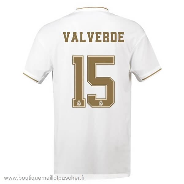 Promo NO.15 ValVert Domicile Maillot Real Madrid 2019 2020 Blanc