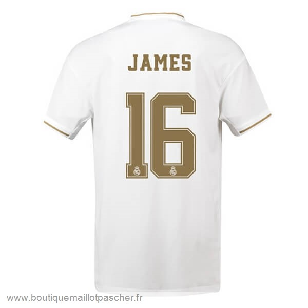 Promo NO.16 James Domicile Maillot Real Madrid 2019 2020 Blanc