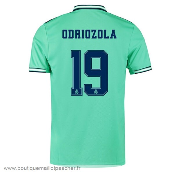 Promo NO.19 Odriozola Third Maillot Real Madrid 2019 2020 Vert